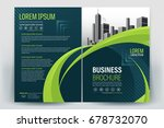 vector brochure layout  flyers... | Shutterstock .eps vector #678732070