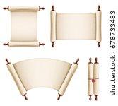 old vintage paper scrolls | Shutterstock .eps vector #678733483