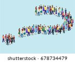 isometric flat 3d isolated... | Shutterstock .eps vector #678734479