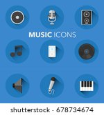 music icons flat design icons | Shutterstock .eps vector #678734674