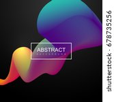 abstract 3d colorful shape.... | Shutterstock .eps vector #678735256