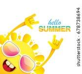 hello summer funky rock n roll...   Shutterstock .eps vector #678738694