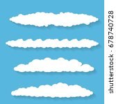 vector white summer clouds with ... | Shutterstock .eps vector #678740728