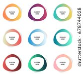 set of colorful banners vector... | Shutterstock .eps vector #678744028