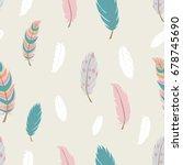 seamless pattern in boho style. ... | Shutterstock .eps vector #678745690