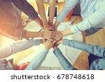 work group of gngineer  people... | Shutterstock . vector #678748618
