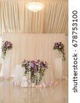 wedding table decoration in... | Shutterstock . vector #678753100