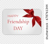 happy friendship day card with... | Shutterstock .eps vector #678761344