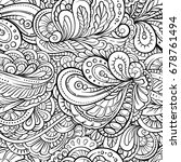 vector abstract black and white ... | Shutterstock .eps vector #678761494
