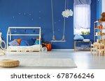 stylish scandinavian decorated... | Shutterstock . vector #678766246