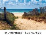 path to the beach  quiberon's... | Shutterstock . vector #678767593