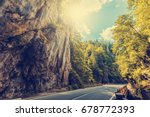 majestic mountain scenery. road ... | Shutterstock . vector #678772393