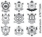 heraldic signs  elements ... | Shutterstock .eps vector #678772684