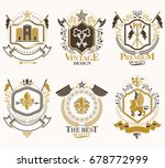 heraldic coat of arms created... | Shutterstock .eps vector #678772999