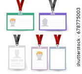 id badge set vector. name tag.... | Shutterstock .eps vector #678775003