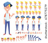 front  side  back view animated ... | Shutterstock .eps vector #678775279