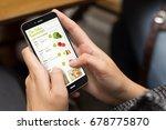 online shopping concept  girl... | Shutterstock . vector #678775870