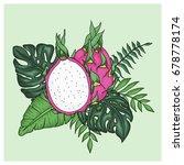 tropical arrangement with...   Shutterstock .eps vector #678778174