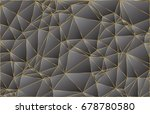 dark abstract polygonal vector... | Shutterstock .eps vector #678780580