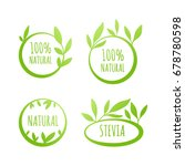 vector stevia  100  natural... | Shutterstock .eps vector #678780598