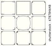 decorative frames | Shutterstock .eps vector #678784648