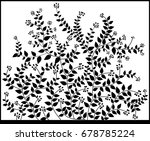the sticky branches of the...   Shutterstock .eps vector #678785224