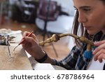 jeweler at work  crafting in a... | Shutterstock . vector #678786964
