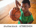 portrait of male teenager with... | Shutterstock . vector #678803404