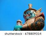 giant statue at wat phra kaew... | Shutterstock . vector #678809314