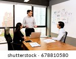 future business leader concept. ... | Shutterstock . vector #678810580