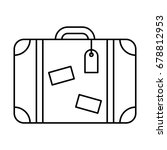 Line Icon Suitcase  Isolated On ...