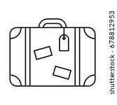 Line Icon Suitcase  Isolated O...