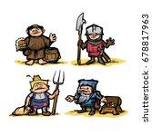Cartoon Medieval Set Of...