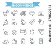 e commerce icon set  thin line... | Shutterstock .eps vector #678820348