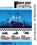 construction crane silhouette... | Shutterstock .eps vector #678820630