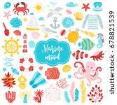 set of underwater ocean...   Shutterstock .eps vector #678821539