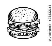 illustration burger in classic... | Shutterstock .eps vector #678822166