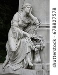 cemetery mourning woman statue   Shutterstock . vector #678827578