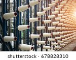 rolls of industrial cotton... | Shutterstock . vector #678828310
