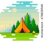 vector flat web banner on the... | Shutterstock .eps vector #678828568