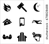 set of 9 mixed icons such as...   Shutterstock .eps vector #678828688