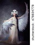 art angel girl with wings fairy ...   Shutterstock . vector #678834778