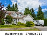 big residential house with rv... | Shutterstock . vector #678836716