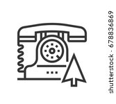 contact us icon  part of the... | Shutterstock .eps vector #678836869