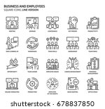 business and employees  square... | Shutterstock .eps vector #678837850