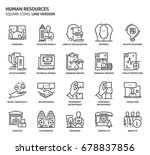 human resources  square icon... | Shutterstock .eps vector #678837856