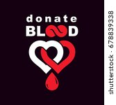 donate blood inscription... | Shutterstock .eps vector #678839338