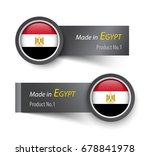 flag icon and label with text... | Shutterstock .eps vector #678841978