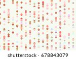 color abstract circles  bubbles ... | Shutterstock .eps vector #678843079