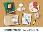 searching for information to... | Shutterstock .eps vector #678843376